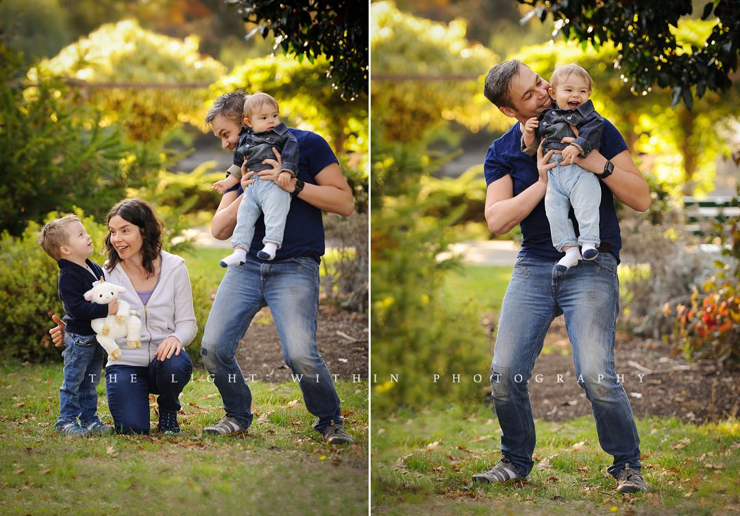Victoria BC family photography at the park